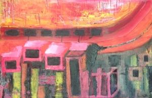 Peinture réalisée à partir d'un souvenir d'enface