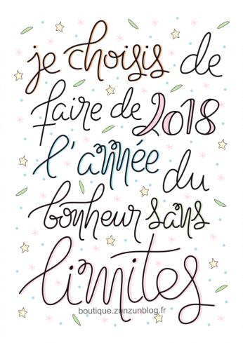 mantra-2018-annee-du-bonheur-sans-limites-affiche-ou-carte-postale